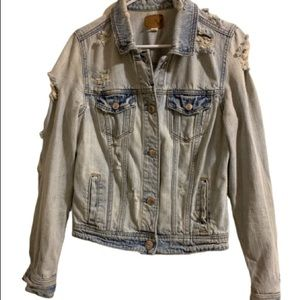 American Eagle Distressed Denim/jean jacket